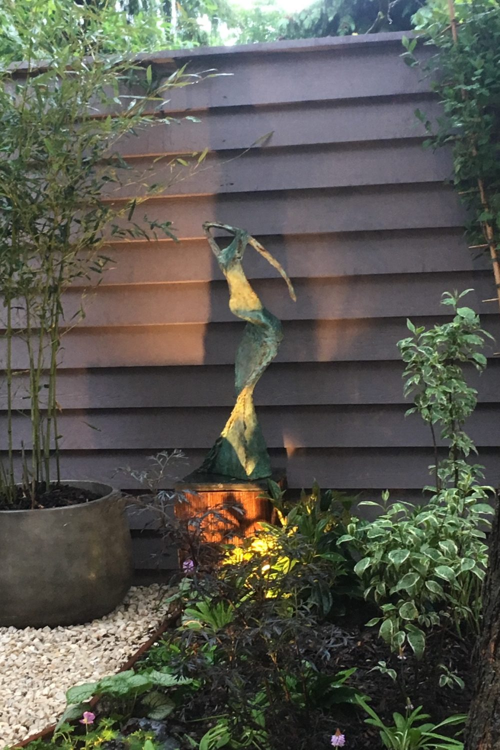 'Midnight on the Hill' in Client's Garden