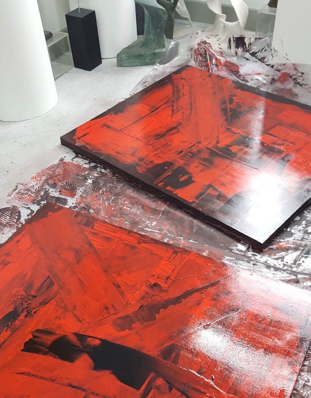 Varnishing new Paintings